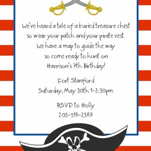 PirateBootyBirthdayPartyInvitations
