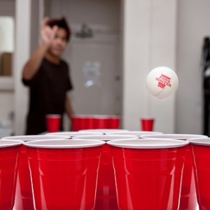 college beer pong party