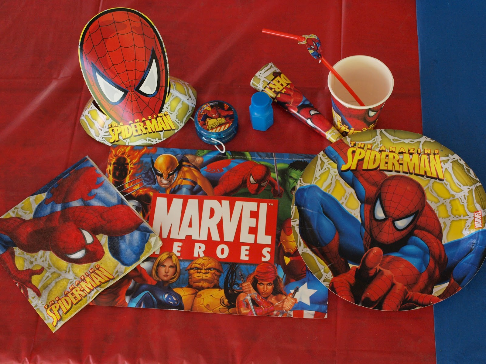 spiderman table party pack
